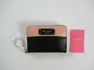 $ CDN66.79 • Buy NWT Kate Spade Greer Small Key Chain Continental Zip Around Two Tone Wallet $89