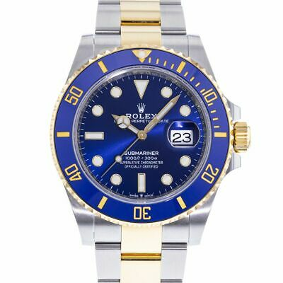 AU7341.10 • Buy Rolex Yacht-Master 18k Yellow Gold Blue Dial Mens Watch 126613LB