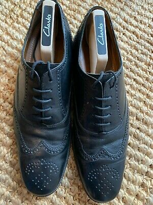 £22.99 • Buy Mens Clarks Brogues Shoes Leather Black Uk 9.5 Gc 100% Genuine Fast Post