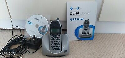 USB CORDLESS DUAL PHONE MODEL RTX3045 (no Battery) Skype. Manual/CD • 0.99£