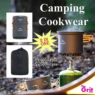 £27.51 • Buy Camping Cookware Double Layer 2 Pots Light Weight & Portable Kitchen Equipment