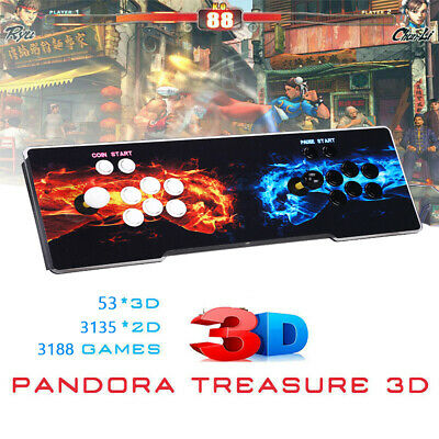 AU229.99 • Buy Pandora's Box 3188 In 1 Games 4Player Retro Console 3D Plus LCD Fit PC TV AU