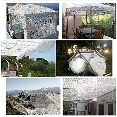 Camouflage Net White Army Camouflage Net Camping Hunting Shooting Sunscreen Net • 13.99£