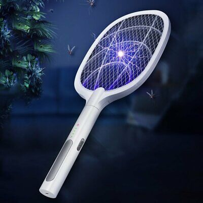 £13.79 • Buy Mosquito Swatter Electric Fly Insect Killer Bug Zapper Racket USB Rechargeable