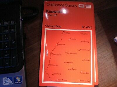Sheet 82 Keswick OS Map One Inch Ordnance Survey  Circa 1970 • 1.85£