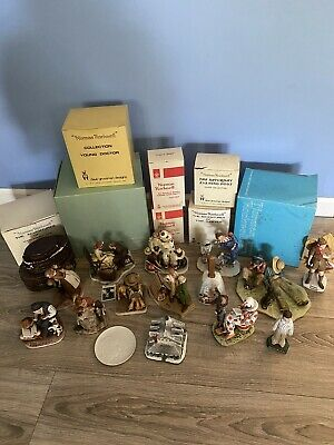 $ CDN1290.32 • Buy HUGE 23 Pc Lot Norman Rockwell Gorham/Signed Limited Edition Figurines
