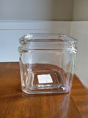 £3.99 • Buy Rustic Clear Glass Cube Vase/pot