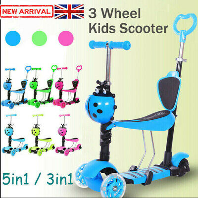 £21.99 • Buy Kids Scooter Seat Toddler Kick Scooter Flashing Wheels Child Toys 3-in-1/5-in-1