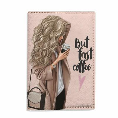£9.36 • Buy Beige Passport Cover For Women, But First Coffee Blonde Girl Fashion Case