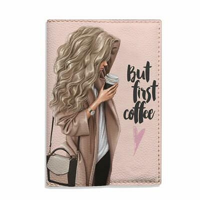 £9.98 • Buy Beige Passport Holder For Women, But First Coffee Blonde Girl Fashion Cover