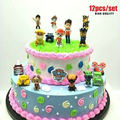 £5.92 • Buy 12pc/set Paw Patrol Cake Toppers Puppy Patrol Dog Boys Girls Toys Action Figures