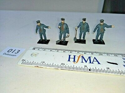 AU51.70 • Buy LOCO CREWS X 4, O GAUGE/7mm , BRASS FIGURES, HIGHLY DETAILED/PAINTED