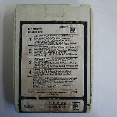AU21.63 • Buy 8 Track Cartridge RAY CONNIFF GREATEST HITS