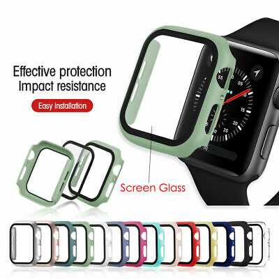 $ CDN4.19 • Buy For Apple Watch Series 3/4/5/6/SE Full Protective Cover Case / Screen Protector