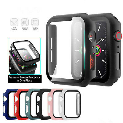 $ CDN4.16 • Buy For Apple Watch IWatch Series SE 6 5 4 3 2 1 Case Full Glass Cover 38 40 42 44mm