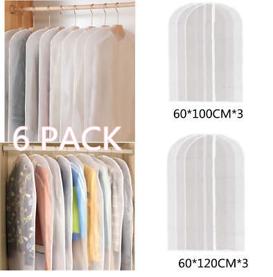 £7.59 • Buy 6 PACK SET Clothes Covers Garment Covers Suit Dress Dust Protector Travel Bags