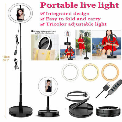 AU16.39 • Buy 10  LED Ring Light Dimmable Lighting Kit Phone Selfie Tripod Stand Youtube Live