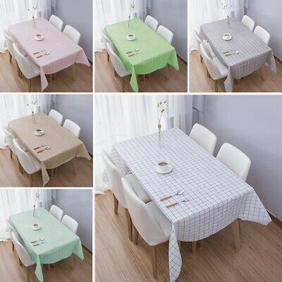 AU12.13 • Buy Rectangle Table Cloth Cover Waterproof Modern Dining Restaurant Home Decor
