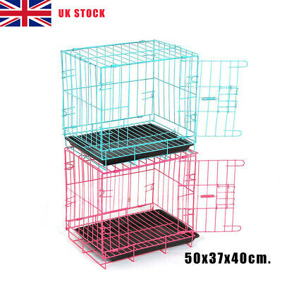 £21.69 • Buy Folding Dog Cat Cage Puppy Pet Crate Carrier With Toilet Small Medium Pet Cage