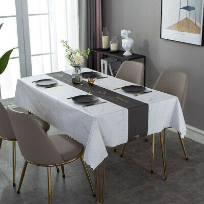 AU19.89 • Buy Tablecloths Dining Waterproof Oilproof Table Cover Leather Table Cloth Marble