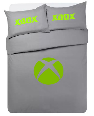 £33.99 • Buy Xbox One **personalised ** Grey Duvet Cover/bedding Set Double