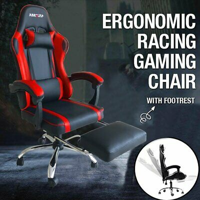AU100.99 • Buy AYLESEA Executive Gaming Chair Office Computer Chairs Footrest Racing Recliner
