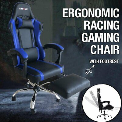 AU100.99 • Buy AYLESEA Gaming Chair Office Executive Computer Chairs Footrest Racing Recliner