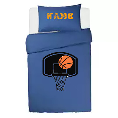 £34.99 • Buy Basketball Fans **personalised ** Blue Duvet Cover/bedding Set Double