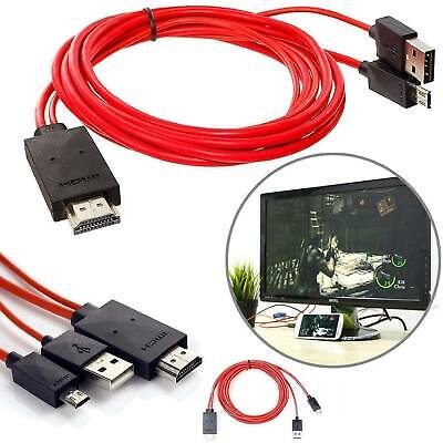 $ CDN10.37 • Buy MHL Micro USB To HDMI 1080P HD TV Cable  For Android Phones Samsung S5/s3