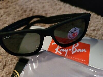 AU74.70 • Buy RAY BAN JUSTIN Sunglasses Matt Black Frame - Dark Green Polarized Lens