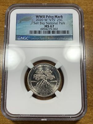 $ CDN174.33 • Buy 2020-W 25c Salt River Bay NP Quarter NGC MS67