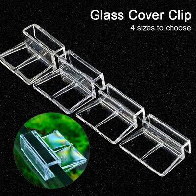 AU13.99 • Buy 10pcs Glass Cover Clip Easy Install Home Support Holder Fish Tank Stand Clear