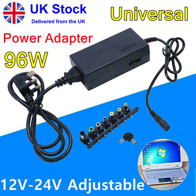 £10.59 • Buy Universal 96W Power Supply Adapter Charger 12-24V For PC Laptop & Notebook AC/DC