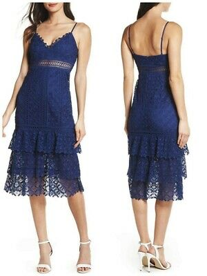 AU7.50 • Buy Forever New Designer Size 16 Katie Lace Cocktail Evening Wedding Party Dress
