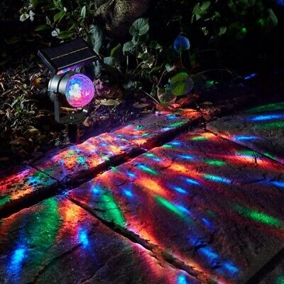 Solar Powered RGB Colour Changing LED Light Spotlight Garden Party Stake Lamp • 10.95£