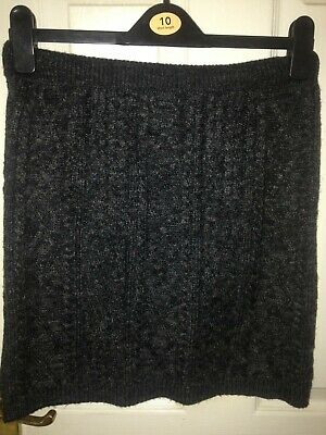 £7.99 • Buy F And F Grey / Charcoal Cable Knit Skirt Size 12