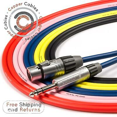 £9.67 • Buy Female XLR To 6.35mm TRS Jack Lead. FoxTWO Cable. Balanced, Mic, PA Speaker