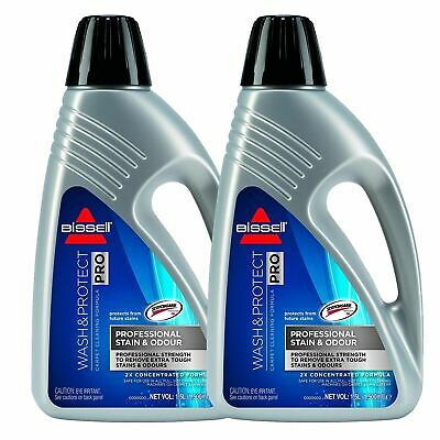 £34.99 • Buy 2 X Bissell Wash & Protect Pro Carpet Cleaner - 1.5L Concentrated Formula.
