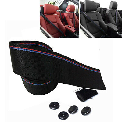$ CDN19.17 • Buy Tricolor 3.8M Harness Auto  Racing Safety Retractable Lap Seat Belt Fit For Car