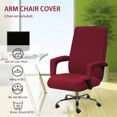 AU26.26 • Buy Office Chair Cover Anti Slip Removable With Armrest Sleeve High Stretch Washable