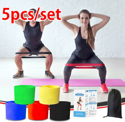 AU11 • Buy 5pcs/set Resistance Loop Exercise Bands GYM Fitness Power Strength Home Gym