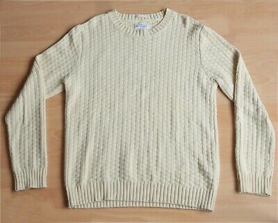 £19.99 • Buy Gant Rugger The Moz Cable Knit Cotton Sweater Large