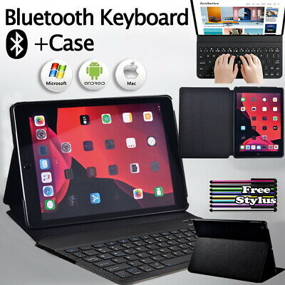 £11.99 • Buy PU Leather Stand Folio Cover Case+Bluetooth Keyboard For Apple IPad/Mini/Air/Pro