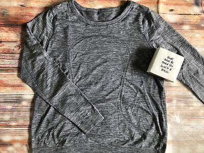 $ CDN60.66 • Buy Lululemon EUC Swiftly Relaxed Long Sleeve Top Slate/White Size 12