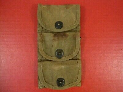 $89.99 • Buy WWI US Army M1917 3-Pocket Ammo Pouch Half Moon Clips .45 Revolver - 1918 - NICE