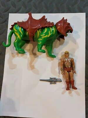 $15 • Buy Super 7 ReAction 3.75  Masters Of The Universe MOTU He-Man And Battle Cat