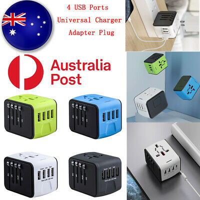 AU16.99 • Buy 4 USB Ports Universal World Travel Charger Adapter Plug Converter Power AU HOT