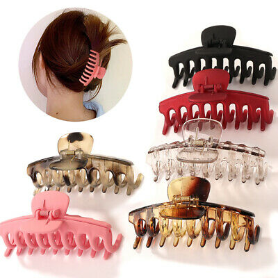 $ CDN4.09 • Buy Ladies Large Hair Claw Clamps Clips Acetate Acrylic Hairpin Hair Accessories