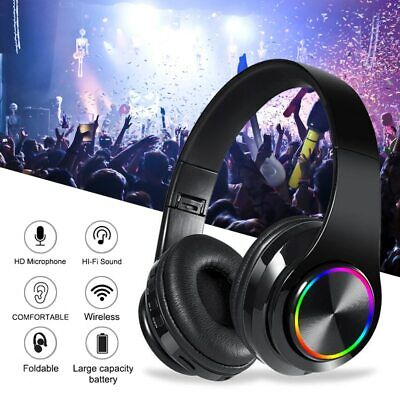 £11.59 • Buy Wireless Bluetooth Headphones With Noise Cancelling Over Ear Stereo Earphones UK