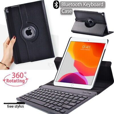 £12.99 • Buy Rotat Leather Stand Case Cover+Bluetooth Keyboard For Apple IPad Mini/Air/Pro